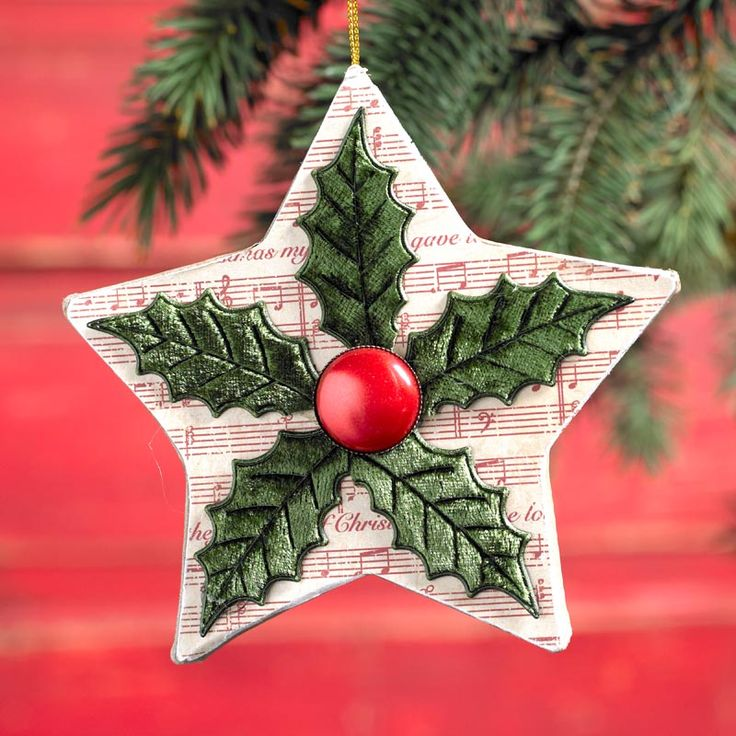 Decoupage - Quick Ornament DIY - Christmas Star