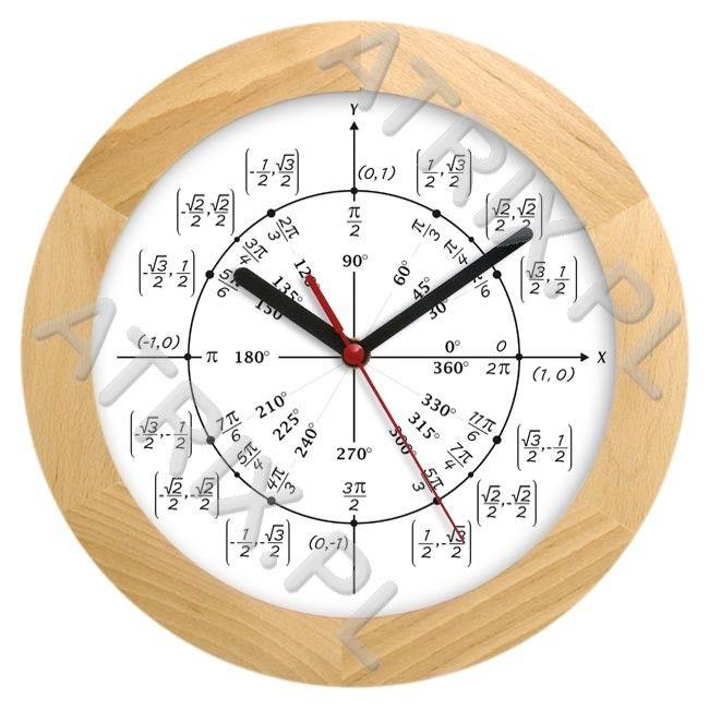 Zegar drewniany solid geometria ATRIX.PL