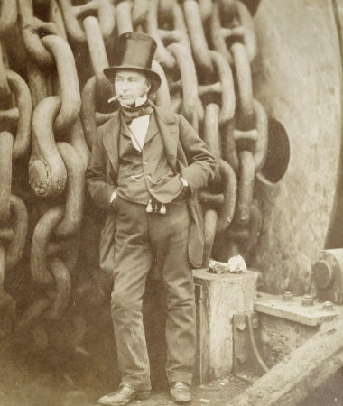 My favorite Brunel pic, so cool. Love the elegant binoculars.