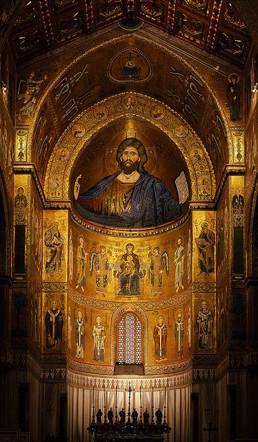 LATE BYZANTINE ARCHITECTURE - The Cathedral of Monreale, near Palermo, begun 1174