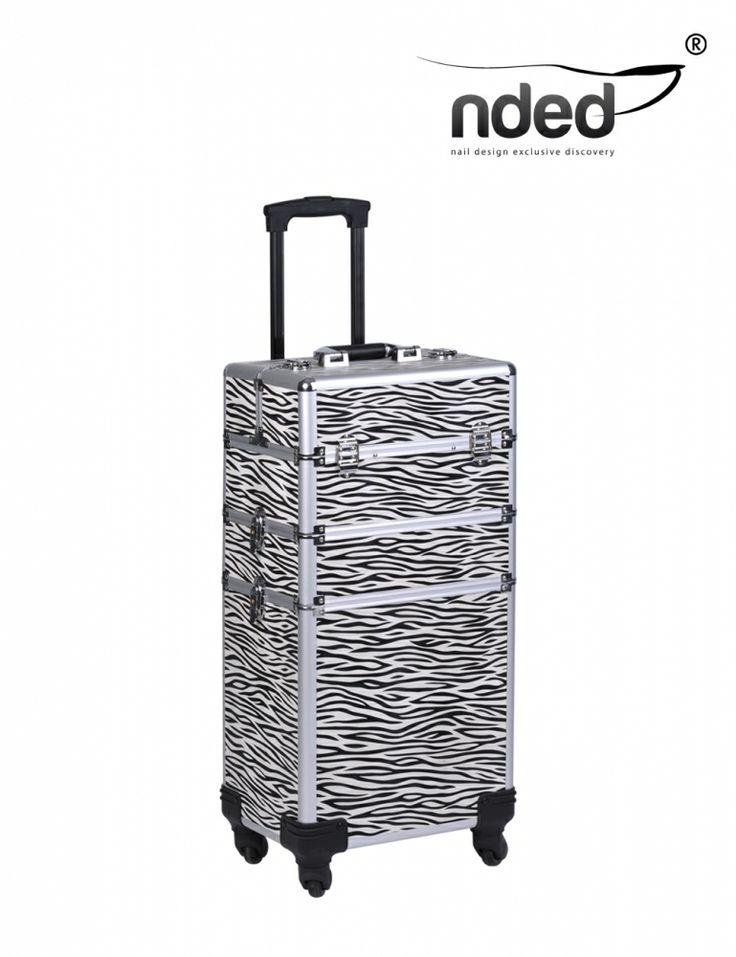 mobile nail studio aluminium case #zebra #storage #nails #equipment ...