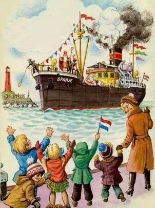 Superplaatje! Traditioneel aankomst Stoomboot Sint en zijn Pieten!