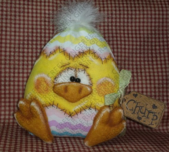Churp the Chick Pattern 205  Primitive by GingerberryCreek on Etsy