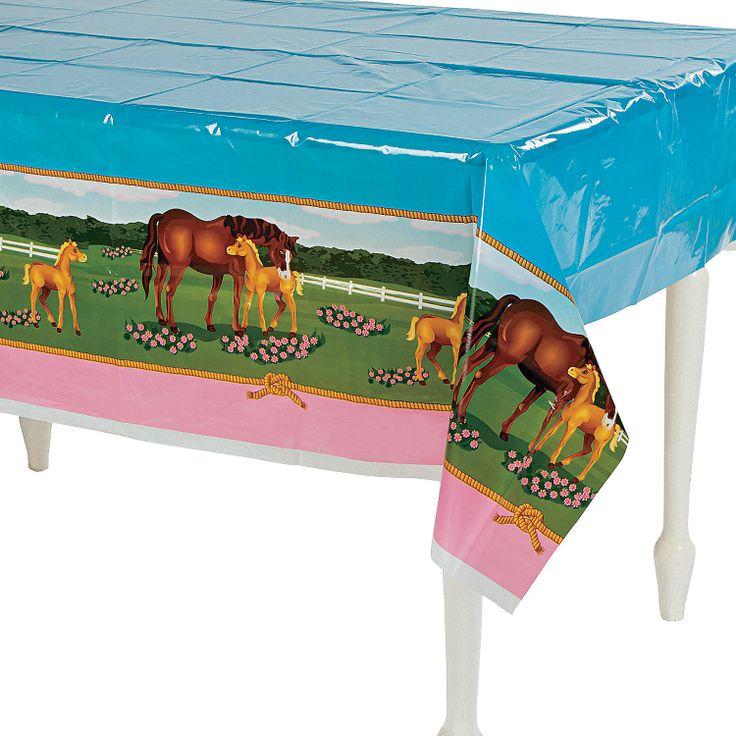 Mare & Foal Tablecloth - OrientalTrading.com