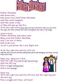 Father Abraham printable song templates for kids - I learned the version at the very bottom!