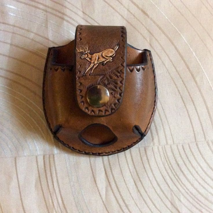 Deer snuff case,Snuff can holder,leather snuff can holder,snuff holder, dip case,handtooled leather snuff can holder,deer jerky case,deer by CLNleathercraft on Etsy
