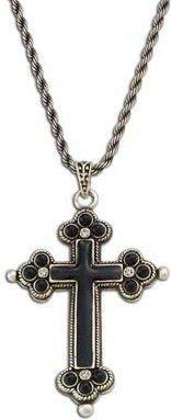 (MSNC798) Western Cross Necklace