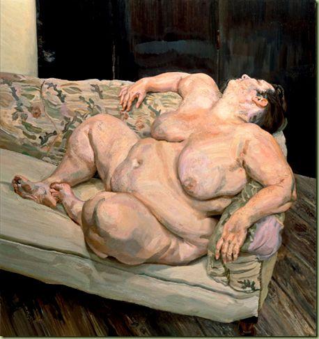 Lucian Freud, Benefits Supervisor Resting, 1994.
