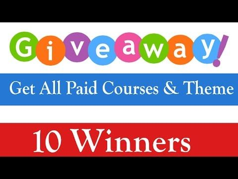 Giveaway Get All Paid Courses and Paid WP Theme