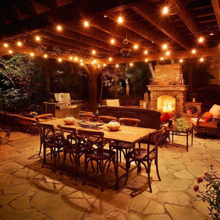 16 best outdoor lights images on pinterest | backyard ideas ... - Ideas For Outdoor Patio Lighting