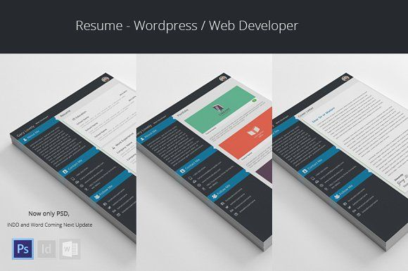 Wordpress Web Developer - Resume by azadcsstune on @creativemarket - resume web developer