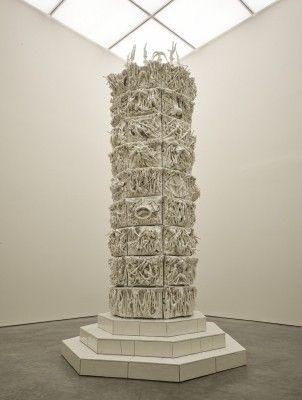 399 Days by Rachel Kneebone 2012 porcelain and mild steel