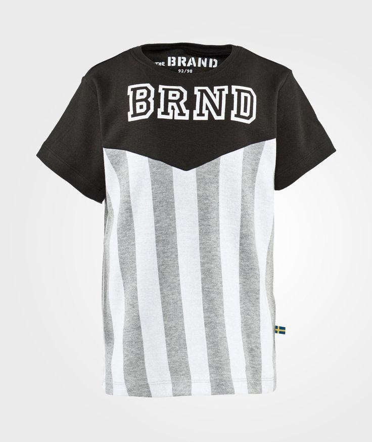 The BRAND Stripe Tee Grey Stripe