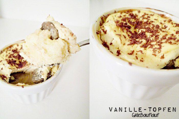 Vanille-Topfen-Grieß-Auflauf