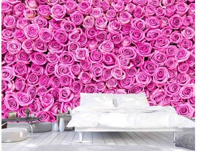 Pink Roses. A wall mural from Muralunique.com. https://www.muralunique.com/pink-roses-12-x-8-3-66m-x-2-44m.html