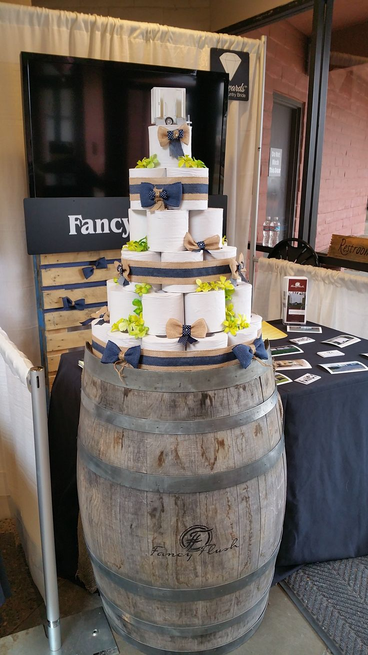 Our toilet paper wedding cake from the Wedding Expo 9/11/16.