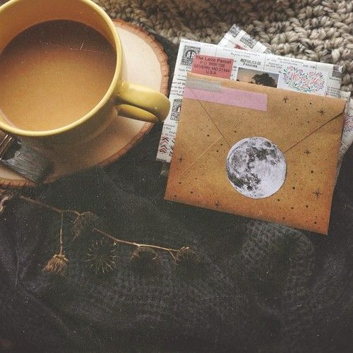 coffee and letters. I wish I was better at writing letters. I buy blank cards all the time!