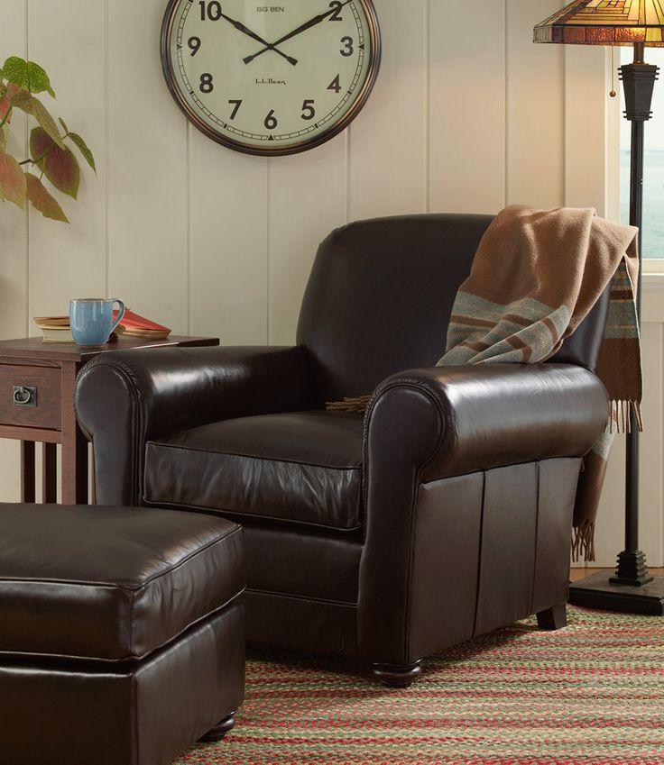 Ll Bean Leather Lodge Chair Home Decor Pinterest