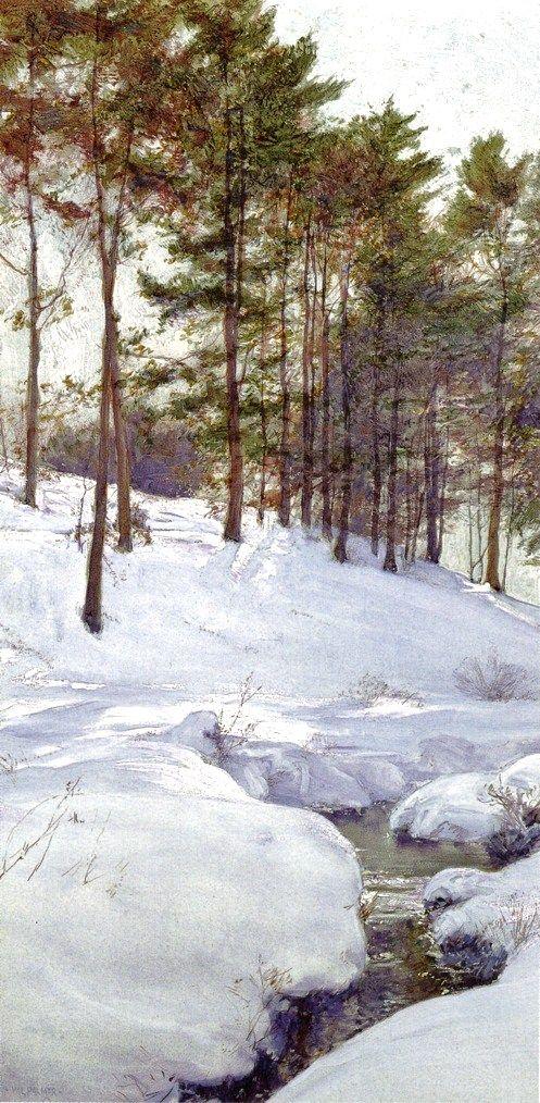 Walter Launt Palmer (American painter, 1854-1932) The Hillside 1900