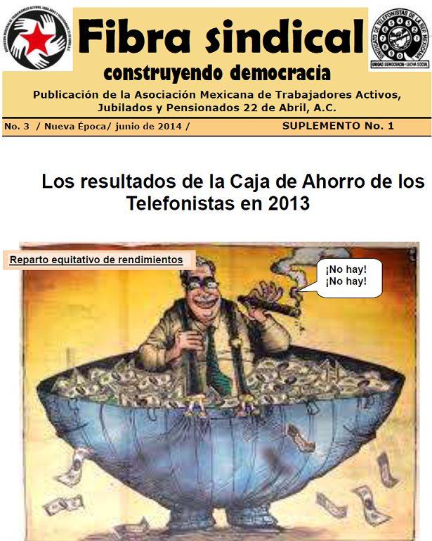 ALTO A LOS DESPIDOS DE LOS EMPLEADOS DE LA CAJA DE AHORROS DE LOS TELEFONISTAS