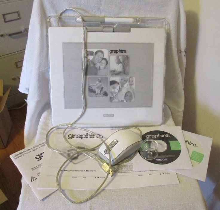 Wacom Graphire 4 6x8 USB Tablet White Pen Mouse Software Stand Guides #Wacom