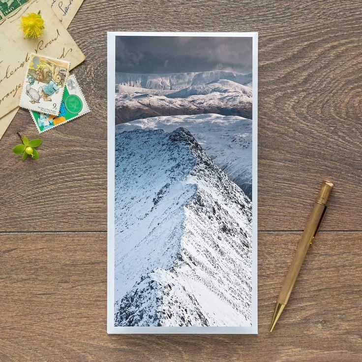 Single Blank Card by landscape photographer Nina K Claridge – Striding Edge, Helvellyn
