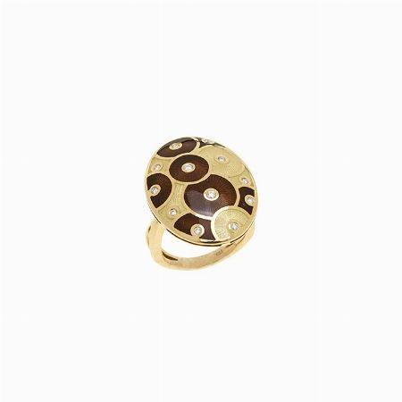 ANELLO, FABERGE' - giallo oro, diamanti e smalti colorati #2 ASTA ONLINE Gioielli del Novecento -Lotto n. 38 #auction #ring #faberge #florence #anello #smalti #enamel #russia #moskow #italy #luxury