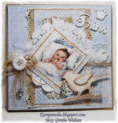 Kortparadis Handmade Håndlaget Scrapping Scrappe NorthStarStamps NorthStarDesign Baby Babycard Babykort Kort Korthobby korthobby.no