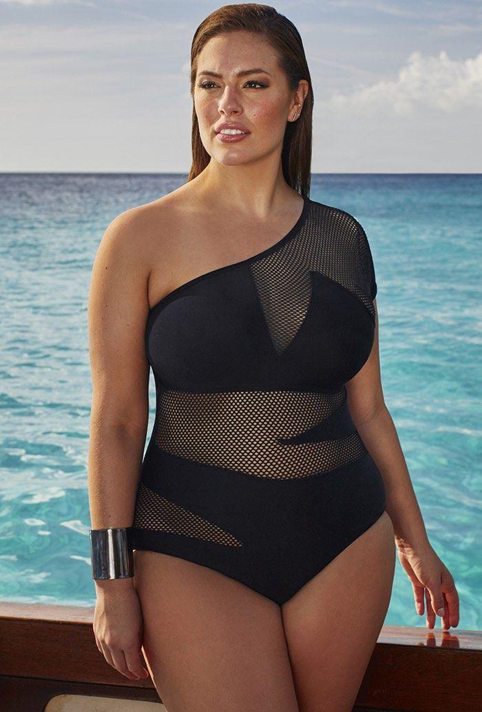 Plus Size Ashley Graham Spy Swimsuit (plus size) #plussizeswimwear #plussizebikini #fatkini
