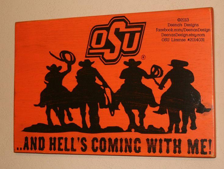 Oklahoma State University Wall Art OSU Cowboys by DeenasDesign, $43.00