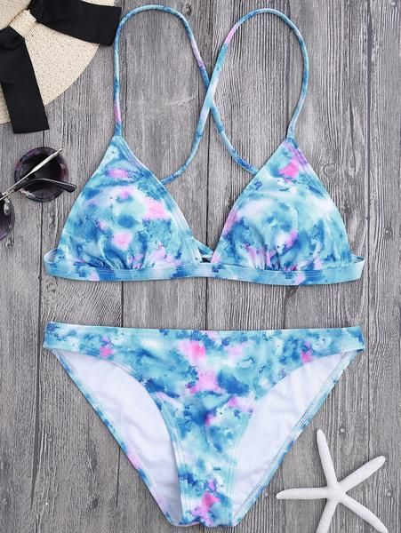 31f38aac49d Chic Tie Dye Bikini Set in 2019