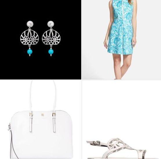 Refresh yourself with turquoise dress! Per l'outfit della settimana vi suggeriamo un outfit dalle sfumature cristalline. Un tubino turchese a fantasia abbinato a white & silver details. Come accessorio? Un orecchino shell design come il mono Nautia Konk. http://www.konk.it/prodotto/orecchini-mono-nautia/ #outfit #shell #design #fashionblogger