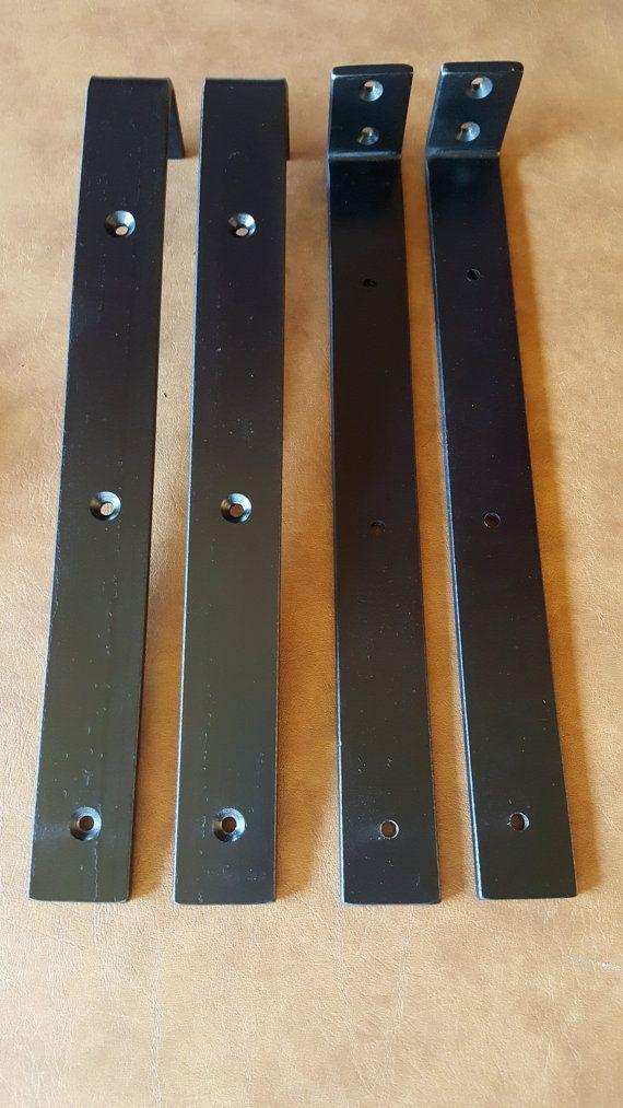 Pair Large Engineered Floating Shelf Brackets Steel