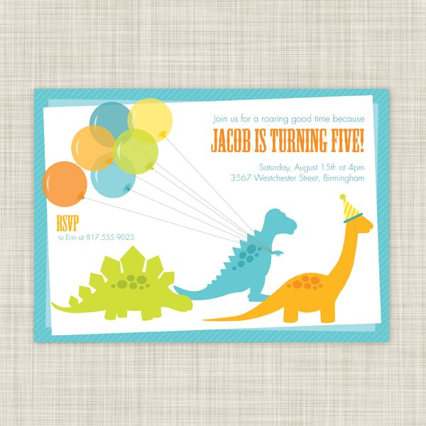 604 best dinosaur party images on pinterest | dinosaur party, Invitation templates