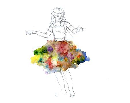 ragazza-balla-con-gonna-colorata