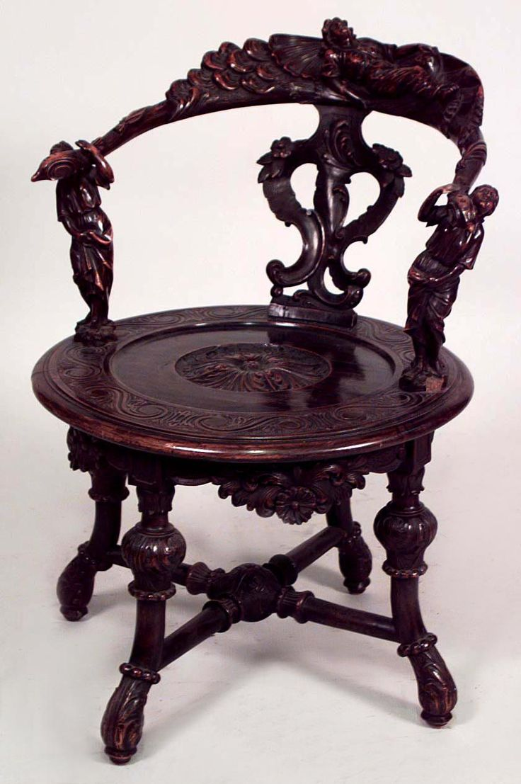 Chair antique queen anne chair the buzz on antiques antique chairs 101 - Italian Renaissance Seating Chair Arm Chair Walnut Furniture Vintageart