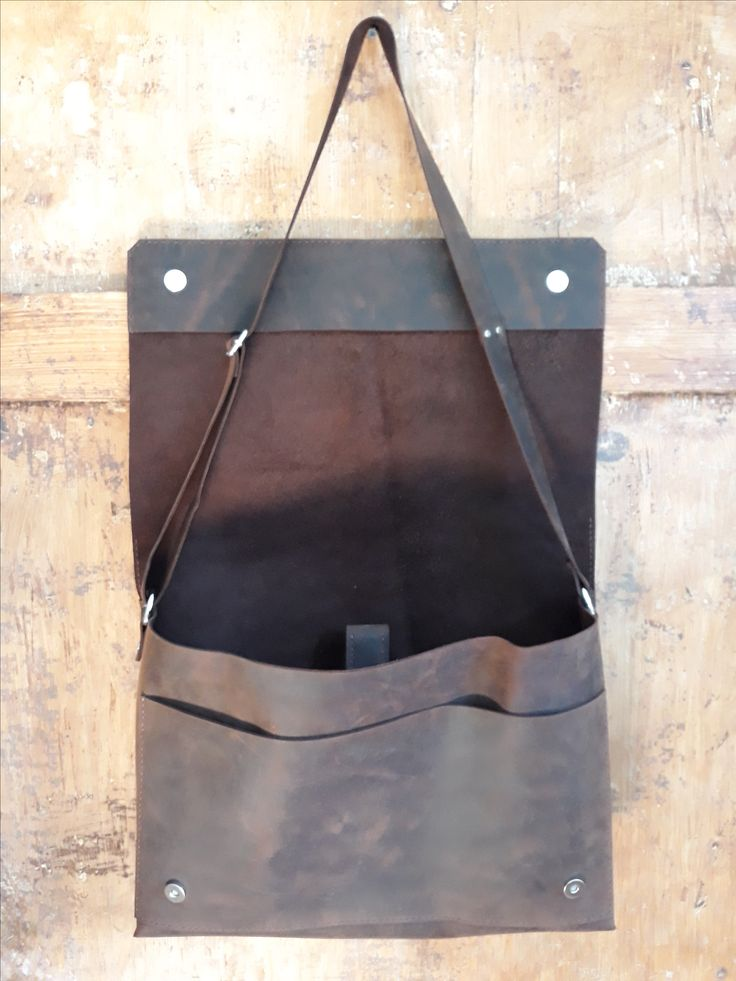 Custom made hand sewn messenger leather bag, laptop bag. www.etsy.com/shop/ZazooHandcrafts