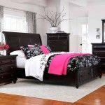 Broyhill Furniture - Farnsworth Eastern King Sleigh Bed in Inky Black Stain - 4856-EK  SPECIAL PRICE: $829.00
