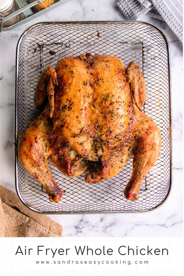 Air fryer whole chicken recipe in 2020 easy cooking