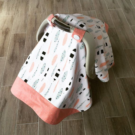 *ask for coordinating fabric in mint color*  About this car seat canopy - Fits all standard infant car seats (graco displayed) - Velcro straps -
