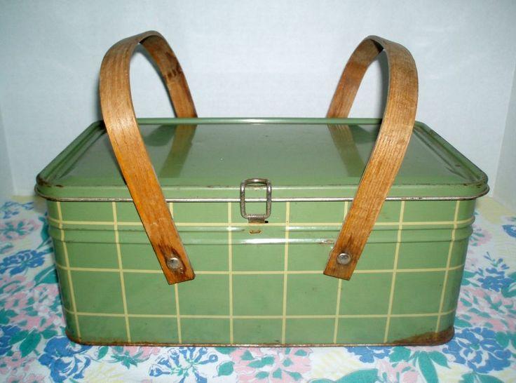 images  picnic baskets  pinterest mid century metals  vintage