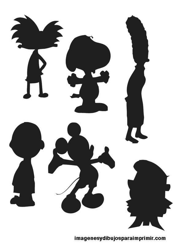 Imagenes y dibujos para imprimir: Siluetas dibujos animados para ...