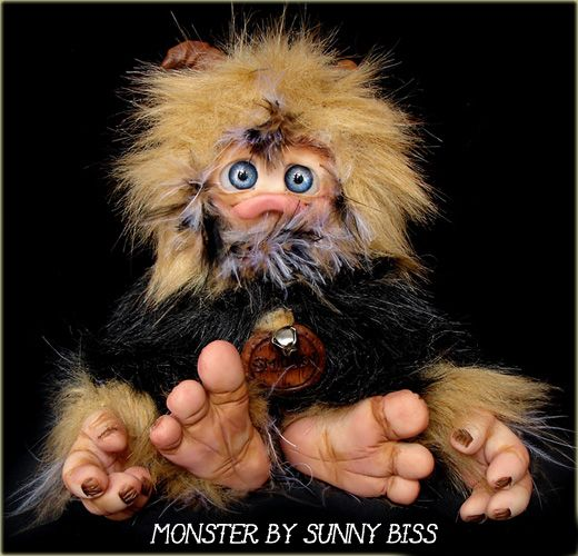 """""""Smidgen"""" A one of a kind Monster by Sunny Biss http://www.sunnybiss.com"""
