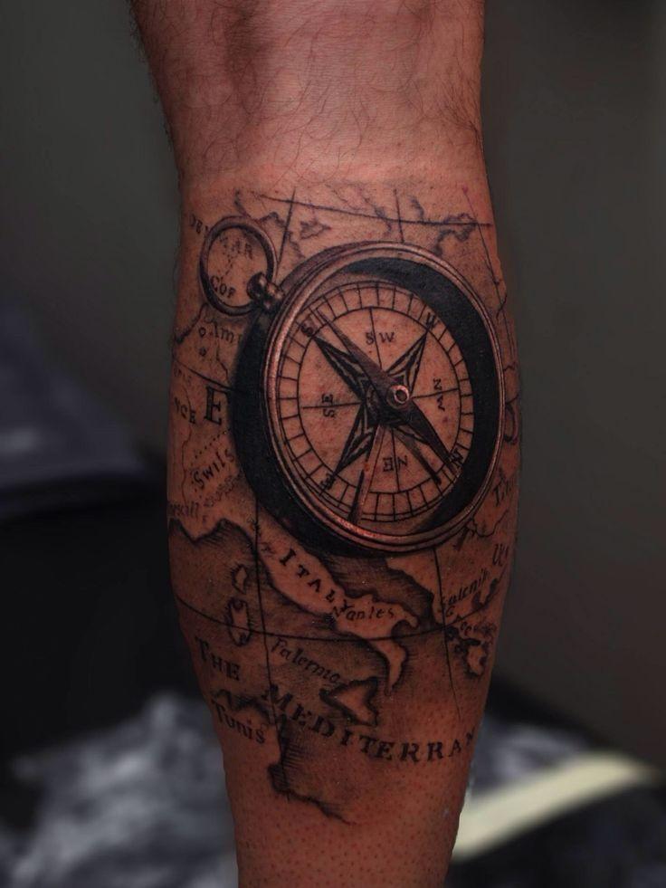 3d compass | Tattoo portfolio | Tattoo vorlagen, Vorlagen