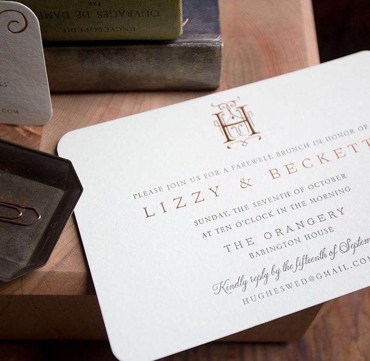 Donegal letterpress and foil wedding invitation from
