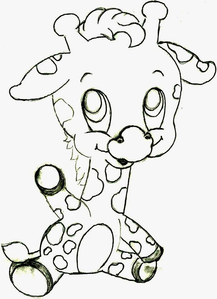 desenho de bebe girafa para pintar