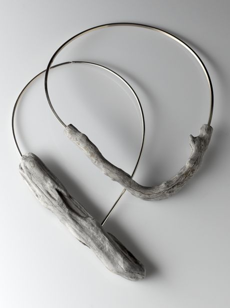 RIver bend adrift - driftwood and sterling silver necklaces by Linda  Van Niekerk # WebMatrix 1.0