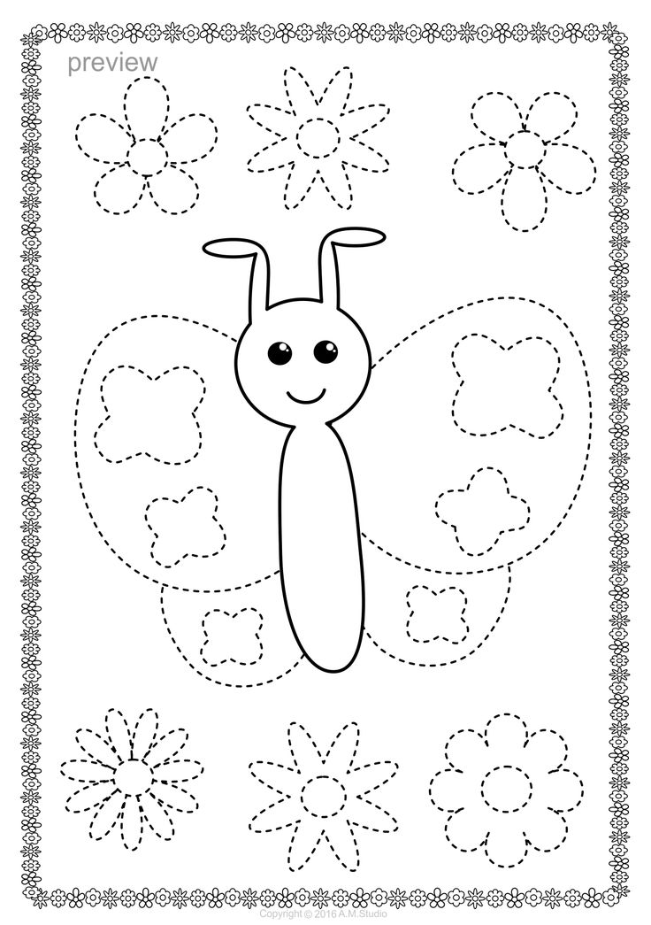 Butterflies Trace and Color Pages {Fine Motor Skills + Pre