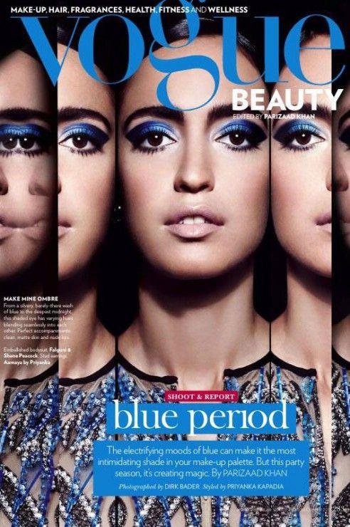 Vogue India  December 2013 Blue Period Makeup/Hair: Mira Parmar Website: www.miraparmarmakeup.com Twitter: @MakeupMira Instagram: @Mira Ihmemaassa myrtes Photographer: Dirk Bader Model: Tamara Moss Stylist: Priyanka Kapadia #MUAM #Makeup #MakeupArtist #MUA #Beauty #Beautiful #MakeupLover #Lipstick #Eyeliner