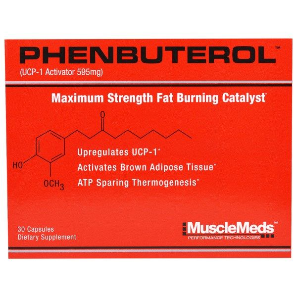 MuscleMeds, Phenbuterol, 595 mg, 30 Capsules